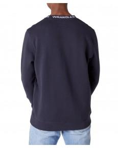 Wrangler LOGO RIB CREW W6C1H Blue Graphite