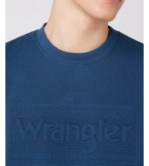 Wrangler TONAL LOGO SWEAT W6C8H Dark Blue Teal