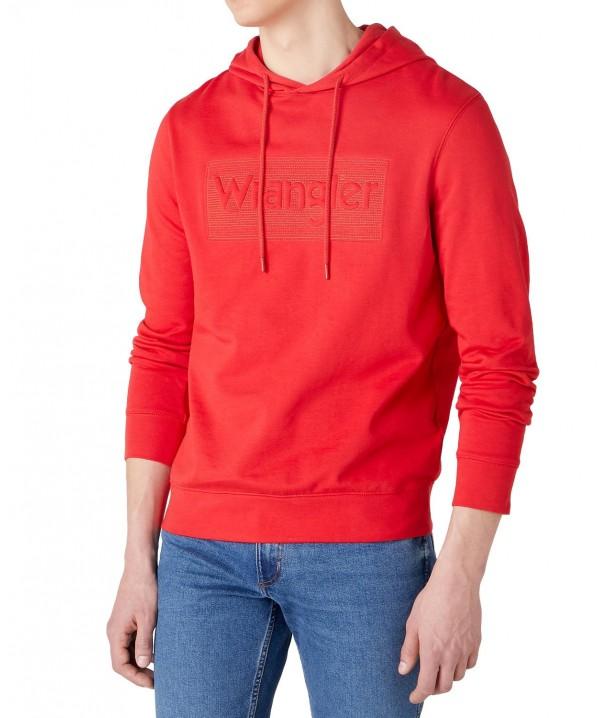 Wrangler TONAL LOGO HOODIE W6C9H Mars Red