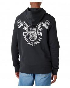 Bluza Wrangler BIKER HOODIE W6F4 Faded Black