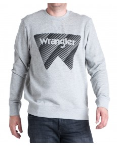 Bluza Wrangler CREW SWEAT W6M1H Mid Grey Mel