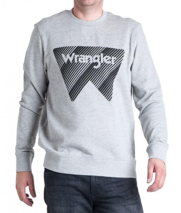 Wrangler CREW SWEAT W6M1H Mid Grey Mel W6M1HYX37