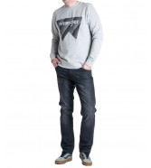 Wrangler CREW SWEAT W6M1H Mid Grey Mel