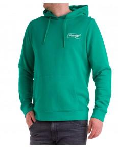 Bluza Wrangler HOODIE W6M4 Golf Green