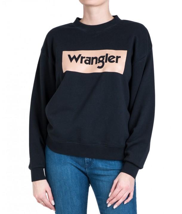 Wrangler HIGH RIB RETRO SWEAT W6N0H Black W6N0HP100