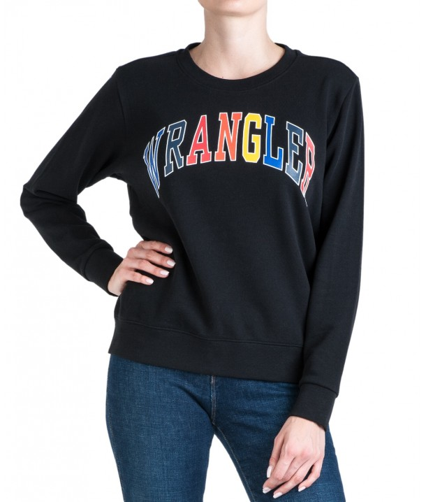 Wrangler REGULAR SWEAT W6N2H Black W6N2HA100