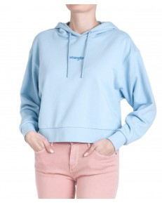 Wrangler CROPPED HOODIE W6N3H Cashmere Blue