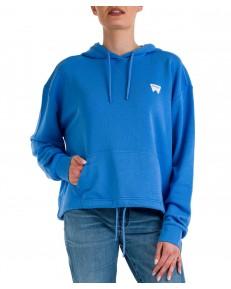 Bluza Wrangler DRAWCORD HOODIE W6Q7H Marina Blue