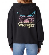 Bluza Wrangler DRAWCORD HOODIE W6Q7H Faded Black