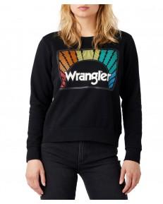 Bluza Wrangler CREW SWEAT W6Z0 Washed Black