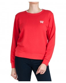Wrangler CREW SWEAT W6Z1H Bittersweet Red