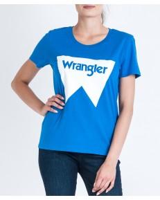 Wrangler FESTIVAL TEE W7016 Victoria Blue