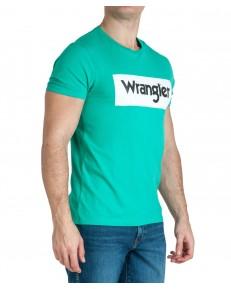 T-shirt Wrangler SS LOGO TEE W742F Peacock Green