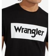 Wrangler SS LOGO TEE W742F Black