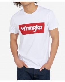 Wrangler SS LOGO TEE W742F White