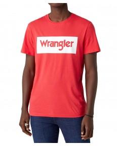 T-shirt Wrangler SS LOGO TEE W742F Rococco Red