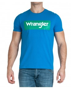 Wrangler SS LOGO TEE W742F Directore Blue