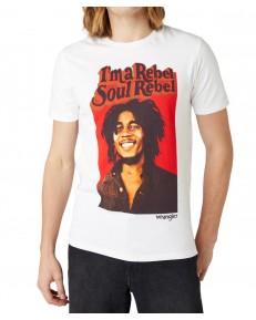 T-shirt Wrangler SS SOUL REBEL TEE W781E White