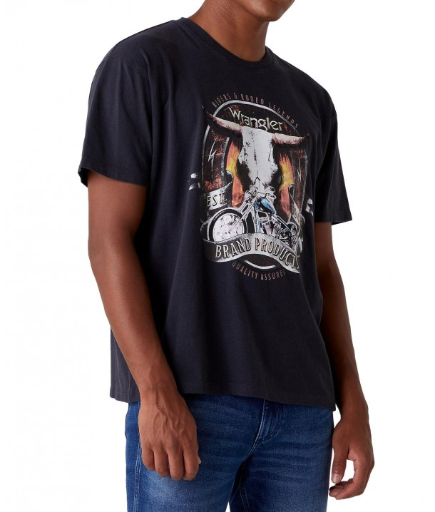 Wrangler SS BULL TEE W7AD Faded Black