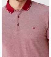 Koszulka Wrangler SS REFINED POLO W7AFK Biking Red