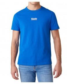 T-shirt Wrangler SS SEAS LOGO TEE W7AK Wrangler Blue