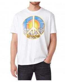 T-shirt Wrangler SS CAR TEE W7AP White