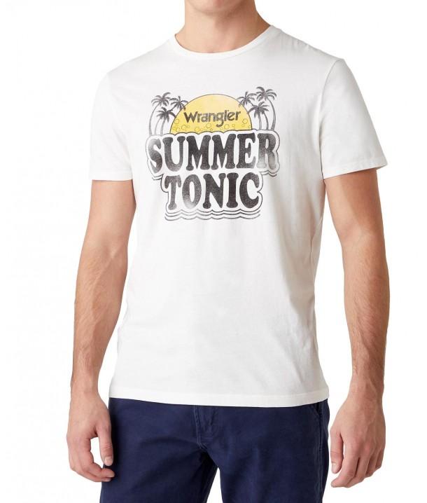 T-shirt Wrangler SUMMER TEE W7AT Off White