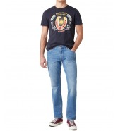 T-shirt Wrangler SS COWBOY TEE W7AVG Black