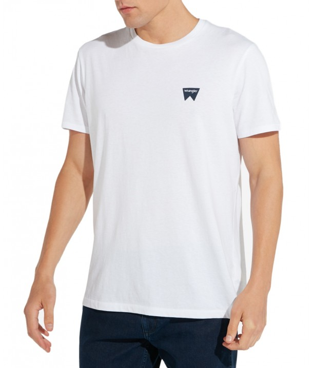 Wrangler SS SIGN OFF TEE W7C07 White W7C07D312