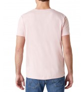 T-shirt Wrangler SS SIGN OFF TEE W7C07 Silver Pink