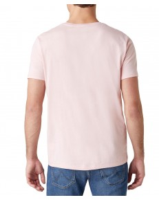 Wrangler SS SIGN OFF TEE W7C07 Silver Pink