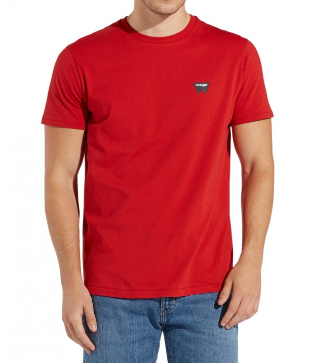 Wrangler SS SIGN OFF TEE W7C07 Scarlet Red W7C07D3UU