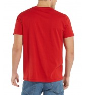 Wrangler SS SIGN OFF TEE W7C07 Scarlet Red