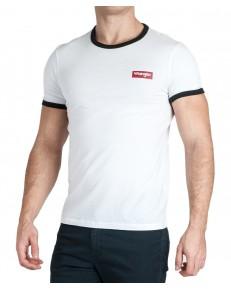 T-shirt Wrangler SS RINGER TEE W7D4D White