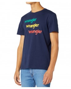 Wrangler SS REPEAT TEE W7D7D Navy