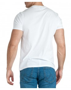T-shirt Wrangler SS REPEAT TEE W7D7D White