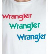 Wrangler SS REPEAT TEE W7D7D White