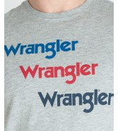 Wrangler SS REPEAT TEE W7D7D Mid Grey Mel