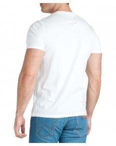 T-shirt Wrangler SS GLOBE TEE W7D9 White