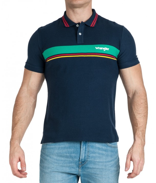 Wrangler SS COLOURBLOCK POLO W7E3 Navy W7E3KF114