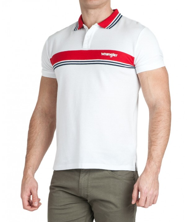 Wrangler SS COLOURBLOCK POLO W7E3 White W7E3KF989