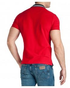Koszulka Wrangler SS COLOURBLOCK POLO W7E3 Formula Red