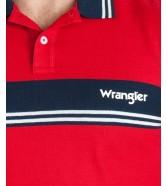Wrangler SS COLOURBLOCK POLO W7E3 Formula Red