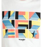 Wrangler SS UNITY TEE W7E9D Offwhite
