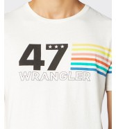 Wrangler SS RAINBOW TEE W7F1F Off White