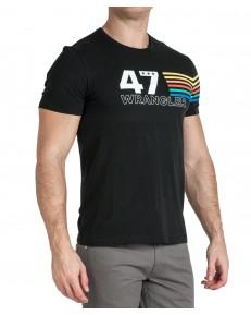 Wrangler SS RAINBOW TEE W7F1F Faded Black