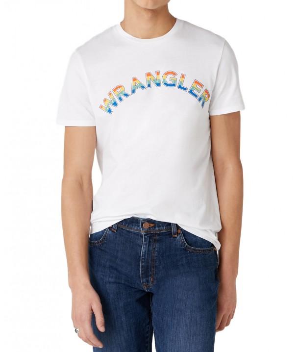 Wrangler RAINBOW TEE W7F2D White