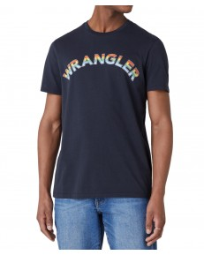 Wrangler RAINBOW TEE W7F2D Blue Graphite