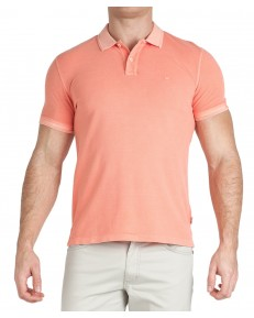Wrangler SS OVERDYE POLO W7F4 Melon Orange