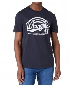 Wrangler SS AMERICANA TEE W7F6 Blue Graphite